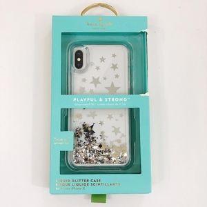 Kate Spade NWT Iphone X Liquid Glitter Phone Case